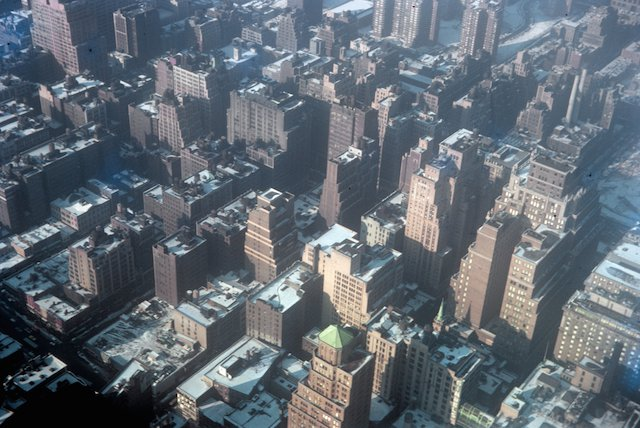 This was taken from the top of The Empire State Building in New York. Looking West-ish. Again, credit to people on Grandpa's Photos for finding it.