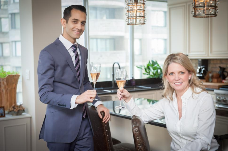 Comanche Weaver and broker Samir Mahadin in her new apartment on the Upper West Side